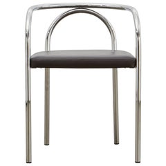 PH Chair, chrome, leather extreme mocca