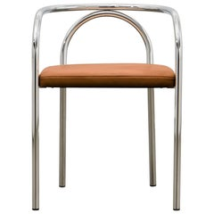 PH Chair, chrome, leather extreme walnut