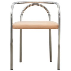 PH Chair, Chrome, Leather Natural Un-Dyed