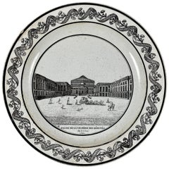 PH Choisy French Creamware Neoclassical Palais à Paris Architecture Plate
