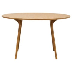 PH Circle Table, Natural Oak Wood Legs, Veneer Table Plate and Edge
