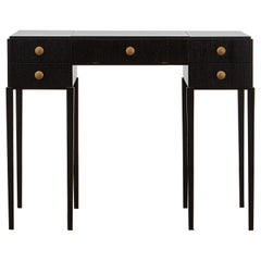 PH Dressing Table, black oak veneer, white ash wood drawers