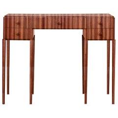 PH Dressing Table, mahogany veneer, white ash wood drawers