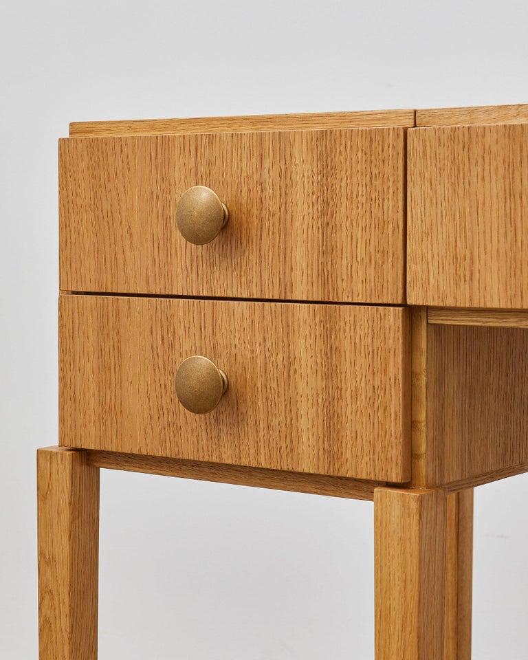 Danish PH Dressing Table, Natural Oak Veneer, White Ashwood Drawers For Sale