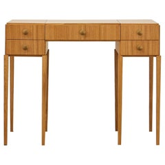 PH Dressing Table, Natural Oak Veneer, White Ashwood Drawers