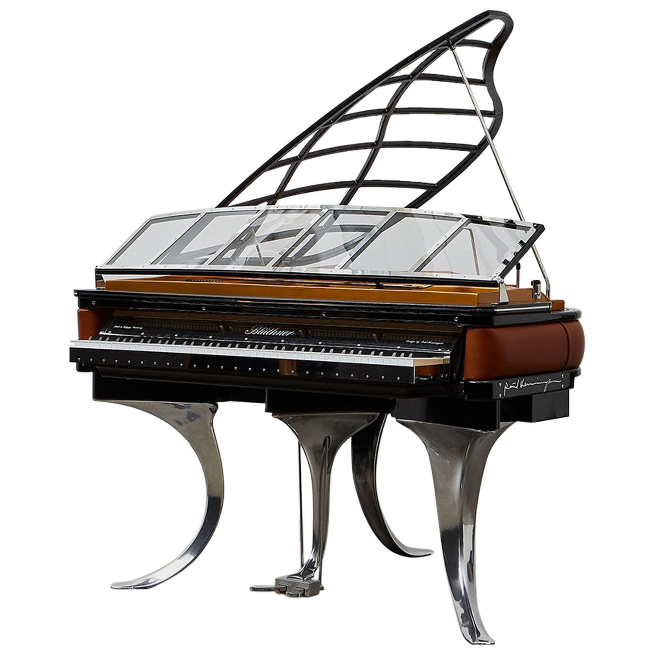 PH Grand Piano PH150 Excellence, cognac leather with chrome lid