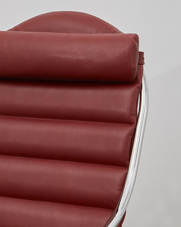 Danish PH Lounge Chair, chrome, leather extreme indianred For Sale