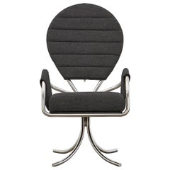 PH Pope Chair, Chrome, Hallingdal Black 190
