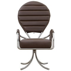 PH Pope Chair, Chrome, Leather Extreme Mocca