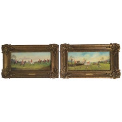 P.H. Rideout Fox Hunt Oil Paintings