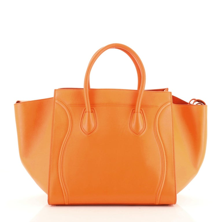 Phantom Bag Smooth Leather Medium In Fair Condition For Sale In New York, NY