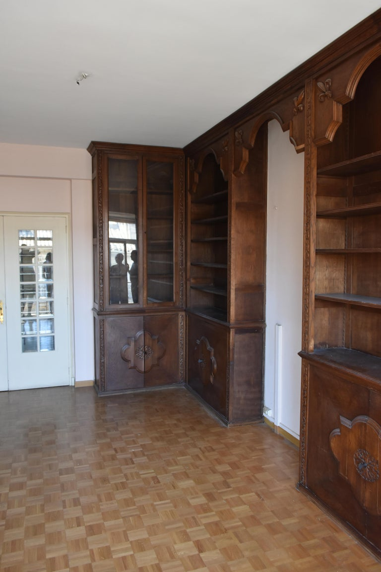 Pharmacy Woodwork Used as Library, circa 1900 For Sale 3