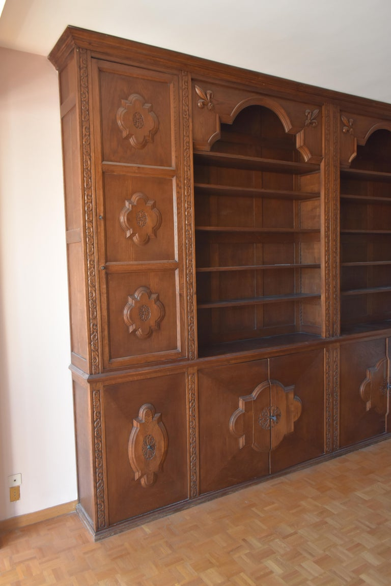 French Pharmacy Woodwork Used as Library, circa 1900 For Sale