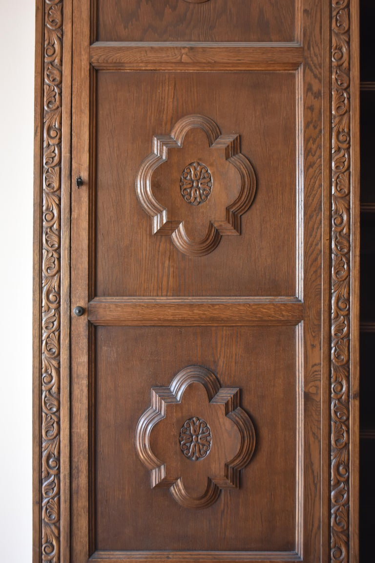 Pharmacy Woodwork Used as Library, circa 1900 In Distressed Condition For Sale In Marseille, FR