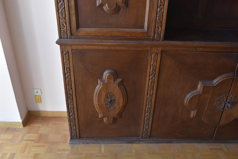 Early 20th Century Pharmacy Woodwork Used as Library, circa 1900 For Sale