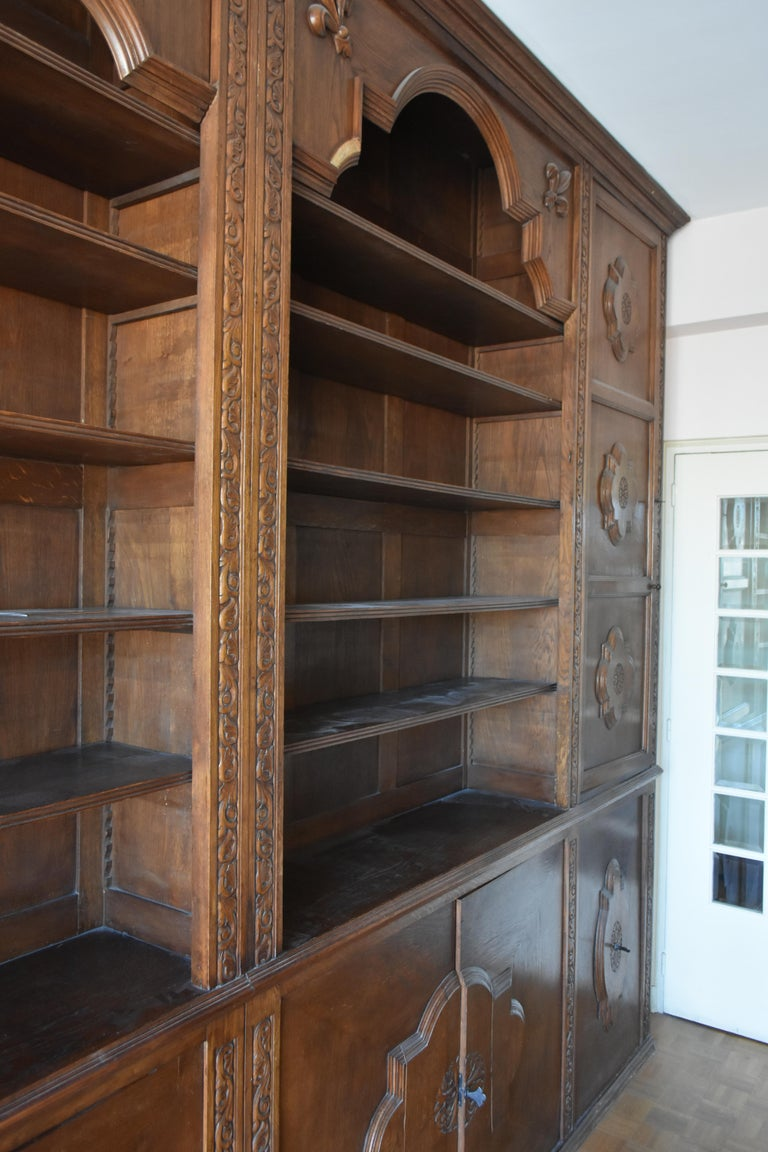 Pharmacy Woodwork Used as Library, circa 1900 For Sale 1