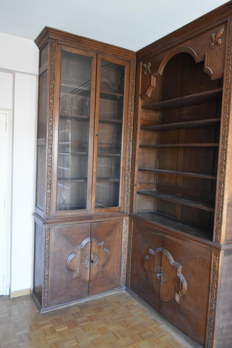 Pharmacy Woodwork Used as Library, circa 1900 For Sale 2