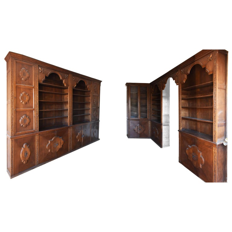 Pharmacy Woodwork Used as Library, circa 1900 For Sale