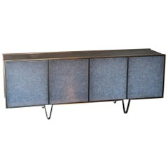 """Phaux"" One of a Kind Sideboard Walnut/Bronze/Brass/Glass by Atelier Stefan Leo"