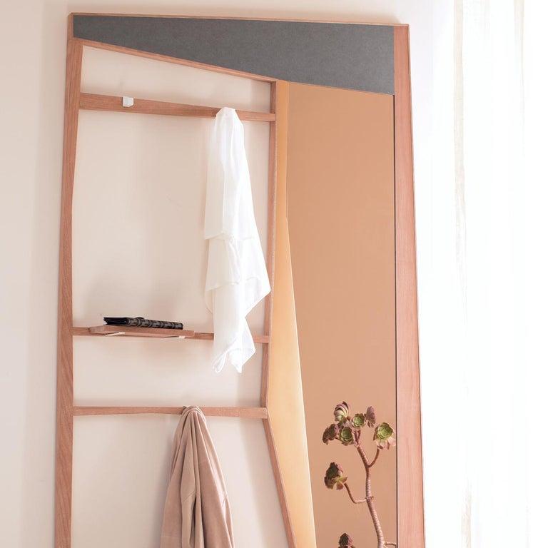 Italian Phelie Pink Mirror and Entryway Wardrobe