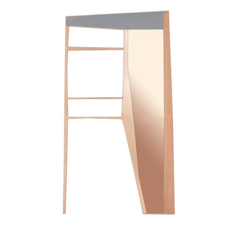 Phelie Pink Mirror and Entryway Wardrobe