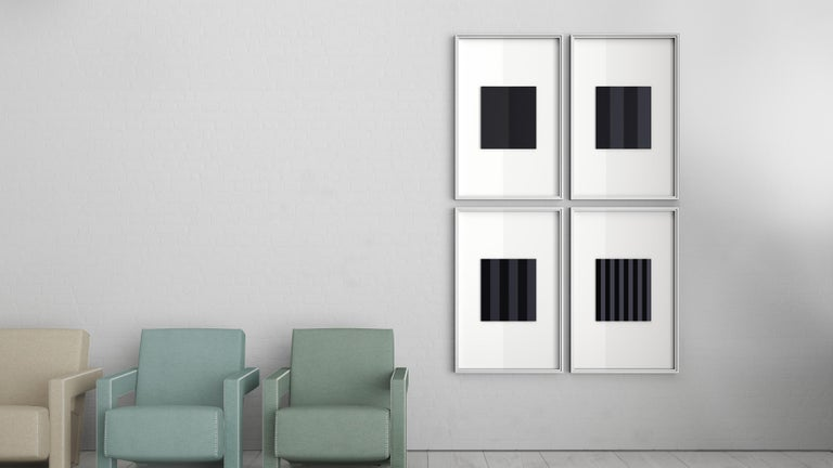 Keiji Takeuchi, Phenomena black, first edition.  Blocks of solid anodized aluminum are CNC-milled at different frequencies to create subtly angled panels that reflect light in endless variations depending on the position of the viewer and time of