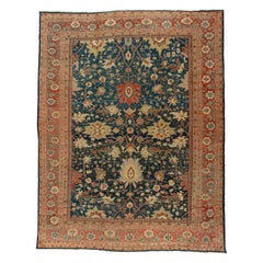 Phenomenal Large Scale Antique Sultanabad Mahal Persian Carpet