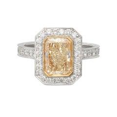 Phenomenal Natural Yellow 2.21 Carat Diamond Ring