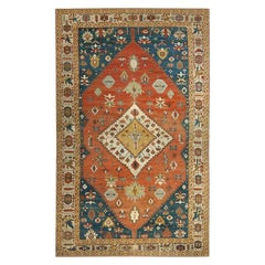 Phenomenal Tribal Oversize Palace Antique Persian Bakshaish Rug