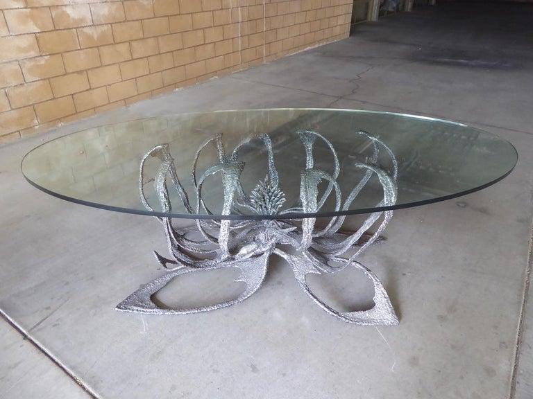 Phenomenal Welded Steel Brutalist Dining Table by Daniel Gluck Studios For Sale 5