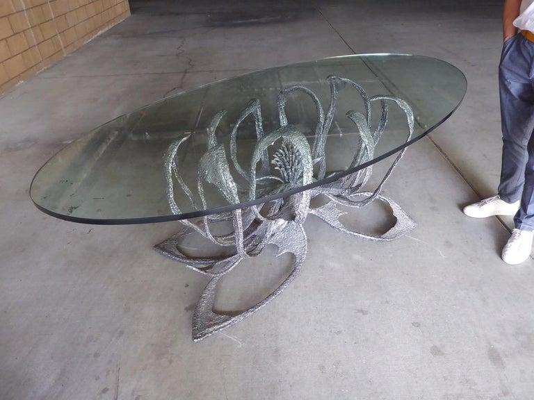 Phenomenal Welded Steel Brutalist Dining Table by Daniel Gluck Studios For Sale 6