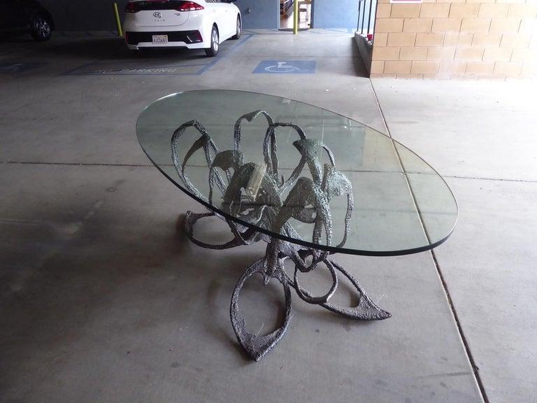 Phenomenal Welded Steel Brutalist Dining Table by Daniel Gluck Studios For Sale 7