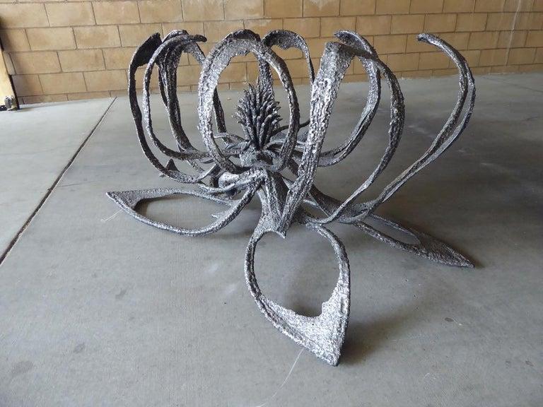 American Phenomenal Welded Steel Brutalist Dining Table by Daniel Gluck Studios For Sale