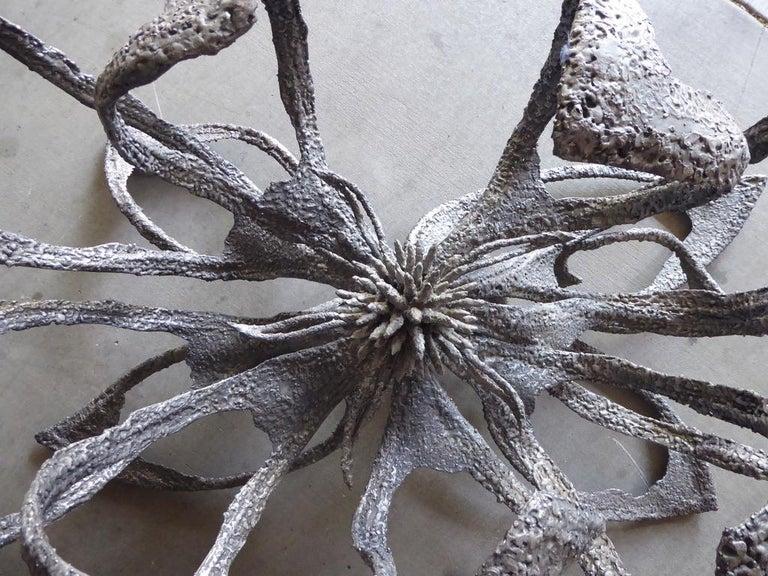 Phenomenal Welded Steel Brutalist Dining Table by Daniel Gluck Studios For Sale 2