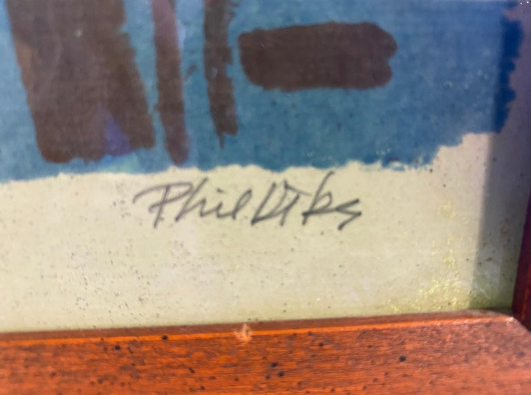 Phil Dike Signed Limited Edition Mid-Century Modern Colorful Lithograph Print 2