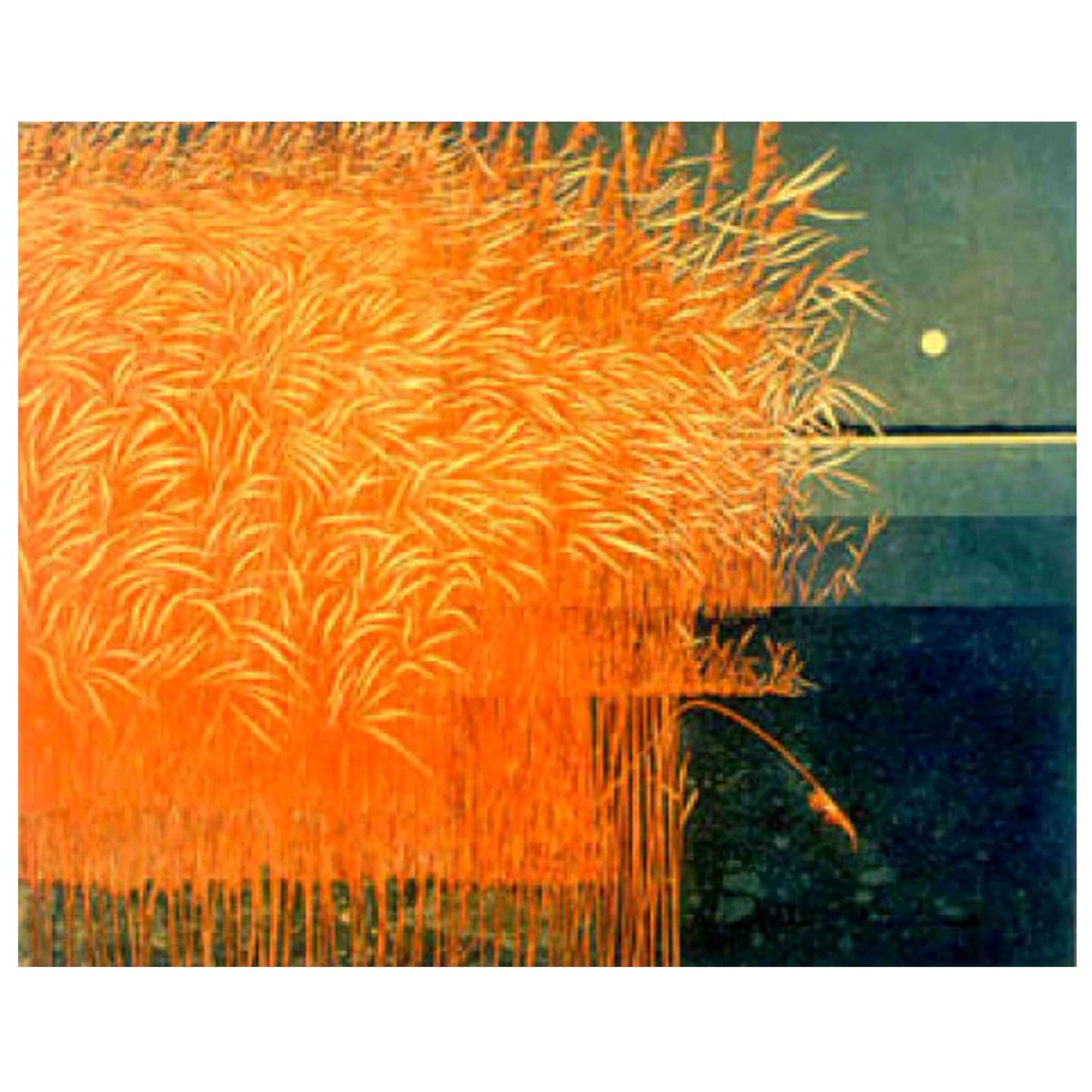 Phil Greenwood 'English' Limited Edition Etching and Aquatint Reeds