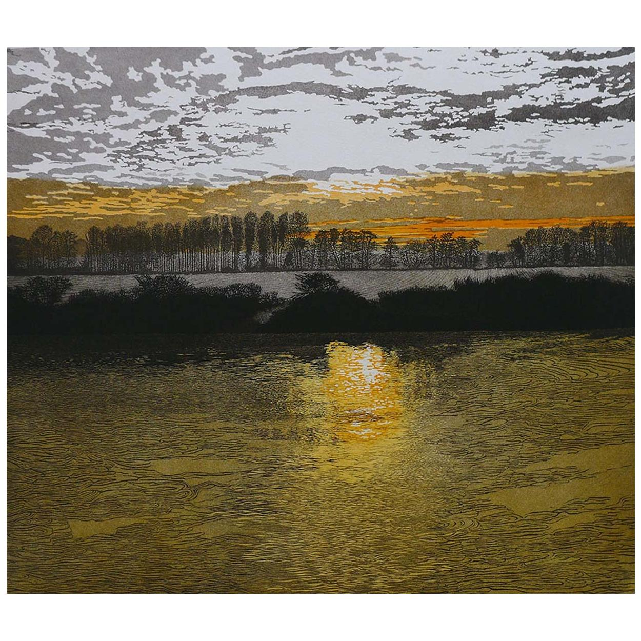 Phil Greenwood 'English' Limited Edition Etching and Aquatint 'River Light'