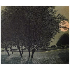 Phil Greenwood Limited Edition Etchings, Primrose Moon