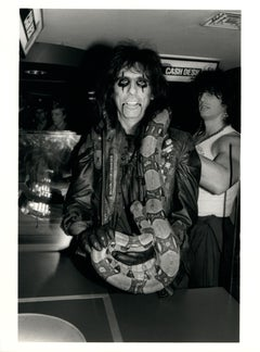 Alice Cooper with Snake Vintage Original Photograph