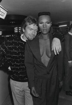 Grace Jones with Richard Branson Vintage Original Photograph