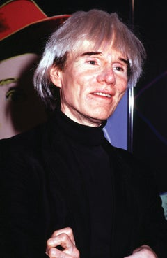 Andy Warhol Smiling with Arms Crossed Fine Art Print