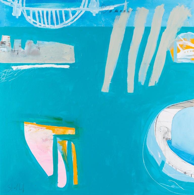 Phil Stallard Landscape Painting - Edge of the City