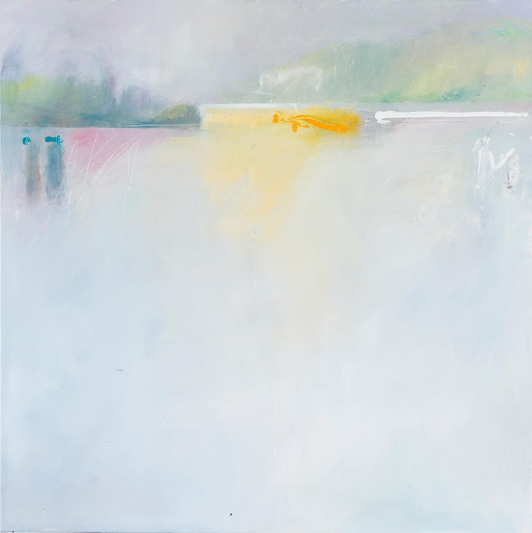 Phil Stallard Abstract Painting - There's a light that never goes out