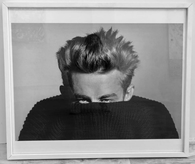 James Dean, 1955. Original Gelatin Print, Framed, Signed on Verso - Photograph by Phil Stern