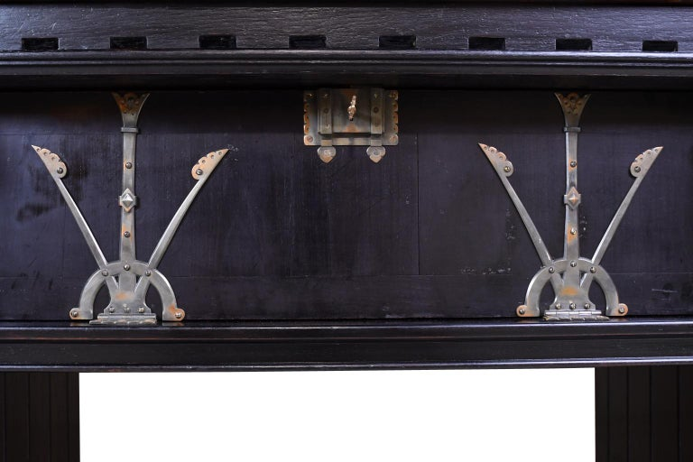 Philadelphia Arts & Crafts/Aesthetic Movement Sideboard by Frank Furness For Sale 2