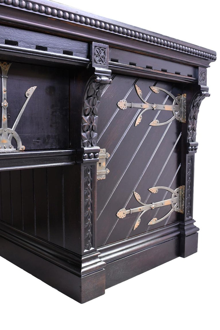 Philadelphia Arts & Crafts/Aesthetic Movement Sideboard by Frank Furness For Sale 5
