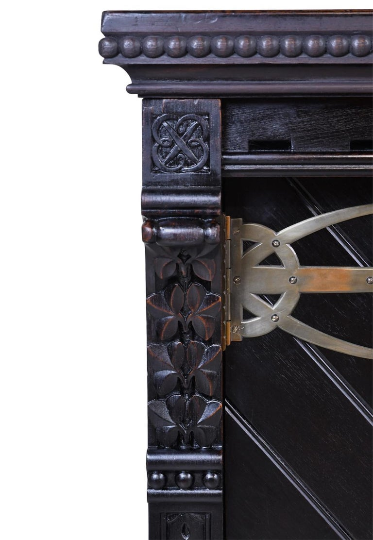 Philadelphia Arts & Crafts/Aesthetic Movement Sideboard by Frank Furness In Good Condition For Sale In Miami, FL