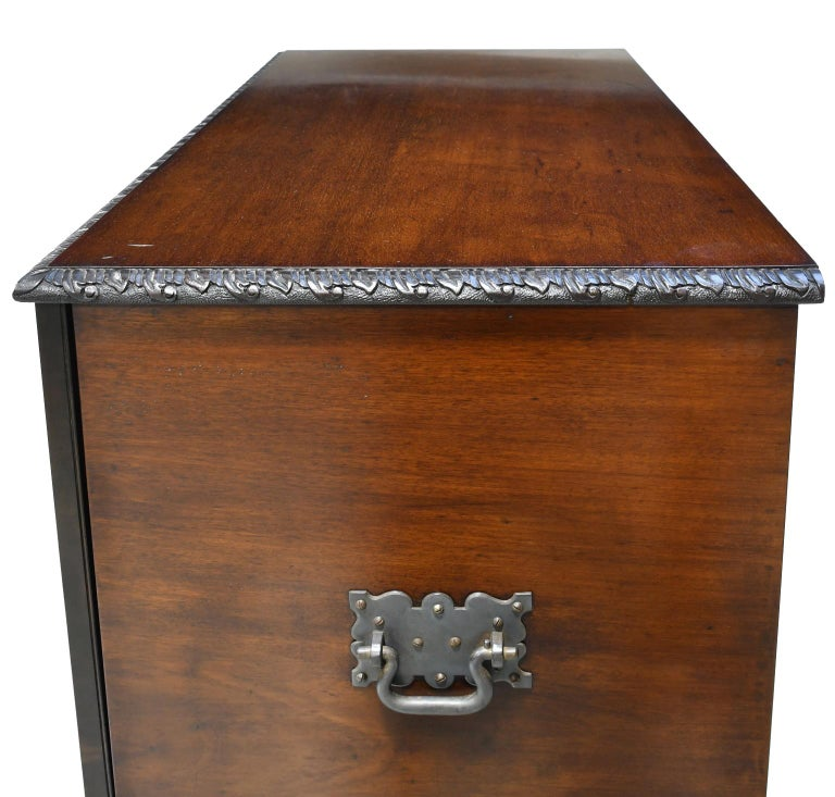 Philadelphia Centennial Mahogany Chest on Stand with Ball and Claw Feet For Sale 8