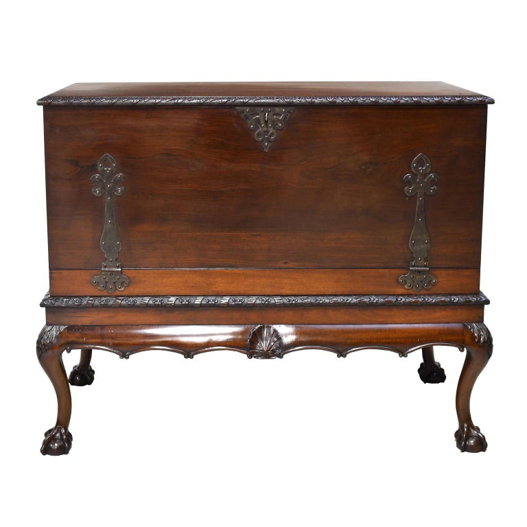 Queen Anne Philadelphia Centennial Mahogany Chest on Stand with Ball and Claw Feet For Sale