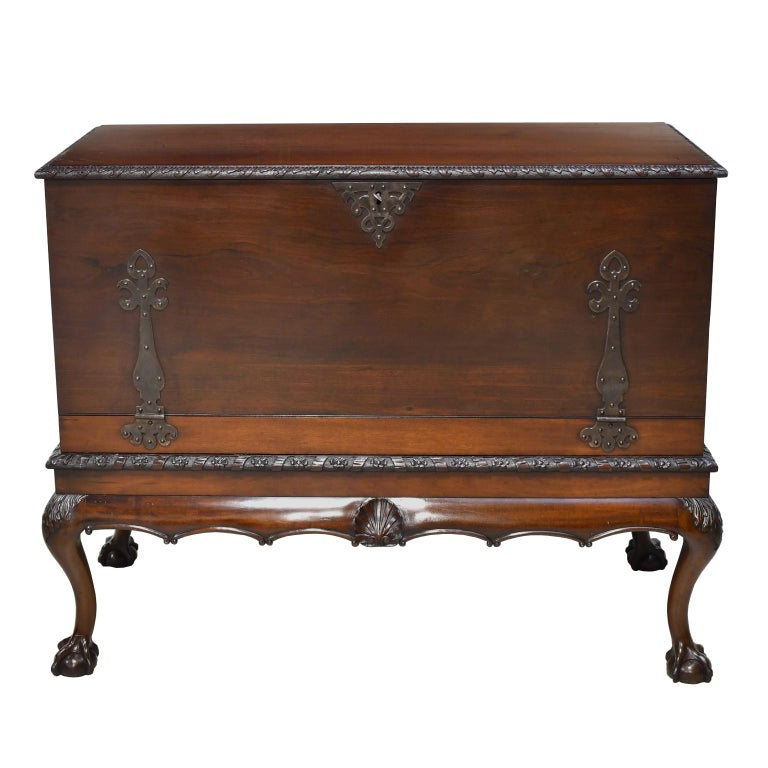 Philadelphia Centennial Mahogany Chest on Stand with Ball and Claw Feet For Sale